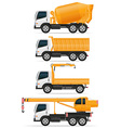 trucks designed for construction vector image