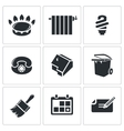 Utilities domestic problems Icons Set vector image vector image