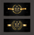 vip golden invitation template vector image vector image