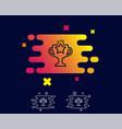 winner cup line icon sport trophy vector image vector image