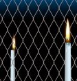 wire fence candle vector image