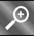 zoom sign icon hole in vector image vector image