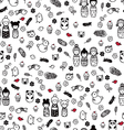 seamless pattern with miniatures vector image