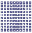100 lumberjack icons set grunge sapphire vector image vector image