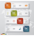 4 steps design clean number banners template vector image vector image