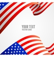 American flag border vector image