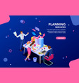 analyst financial template for website vector image