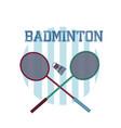 badminton sport equipment vector image vector image