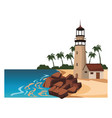 beach and island scenery vector image