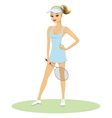 Beauty in tennis uniform with racquet vector image vector image