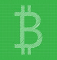 bitcoin icon grey color blueprint background vector image