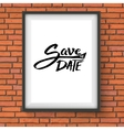 Black Text Design for Save the Date Concept vector image