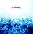 blue abstract fragment background design vector image vector image