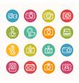 Camera icons set Circle Series vector image vector image