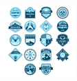 Camping and Outdoor Adventure Vintage Emblems vector image vector image