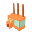 Chemical plant icon cartoon style vector image vector image