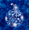 Christmas ball made in snowflakes on grunge vector image vector image