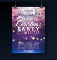 christmas party flyer with lights vector image vector image