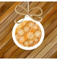 Christmas wood background with ball EPS8 vector image