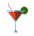 cocktail garnished with lemon slice icon image vector image vector image