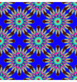 Coloful symmetric seamless pattern with flower for vector image vector image