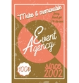 Color vintage event agency banner vector image