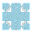 colorful square fantastic labyrinth with an input vector image vector image