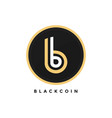 crypto curreny black golden bitcoin modern logo vector image vector image