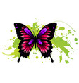 decorative watercolor grunge butterfly for your vector image