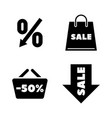 discount tag simple related icons vector image vector image