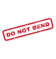 do not bend text rubber stamp vector image vector image