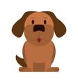 dog animal head vector image