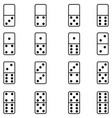 domino icon set vector image