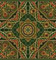 ethnic green ornament vector image