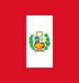 flag of peru in official rate and colors vector image