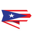flag of puerto rico on a label vector image vector image