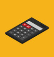 flat isometric calculator icon isolated on color vector image vector image
