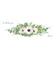 floral bouquet design element with anemone flowers vector image vector image