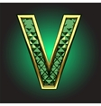golden figure with emerald vector image vector image