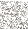 Graphic seashells pattern vector image