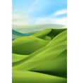 green dunes vector image