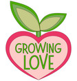 growing love colorful poster with heart shaped vector image vector image