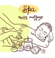 hand drawn massage vector image