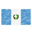 hand drawn national flag of guatemala isolated on vector image vector image