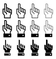 hand with warning forefinger - easy change vector image vector image