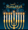 happy hanukkah concept background realistic style vector image vector image