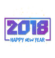 Happy new year 2018 colorful design greeting