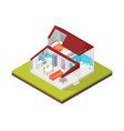 home in section concept 3d isometric view vector image vector image
