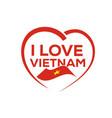 i love vietnam vector image