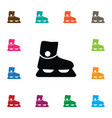 isolated sled icon footwear element can be vector image